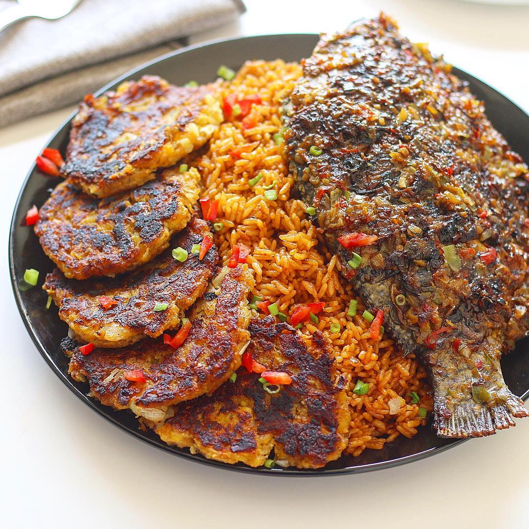 9ja foodie rice and fish