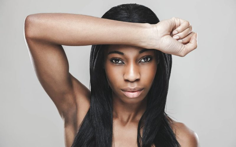 african lady skin