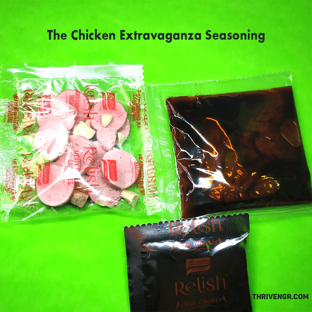 The Chicken Extravaganza seasoning packs
