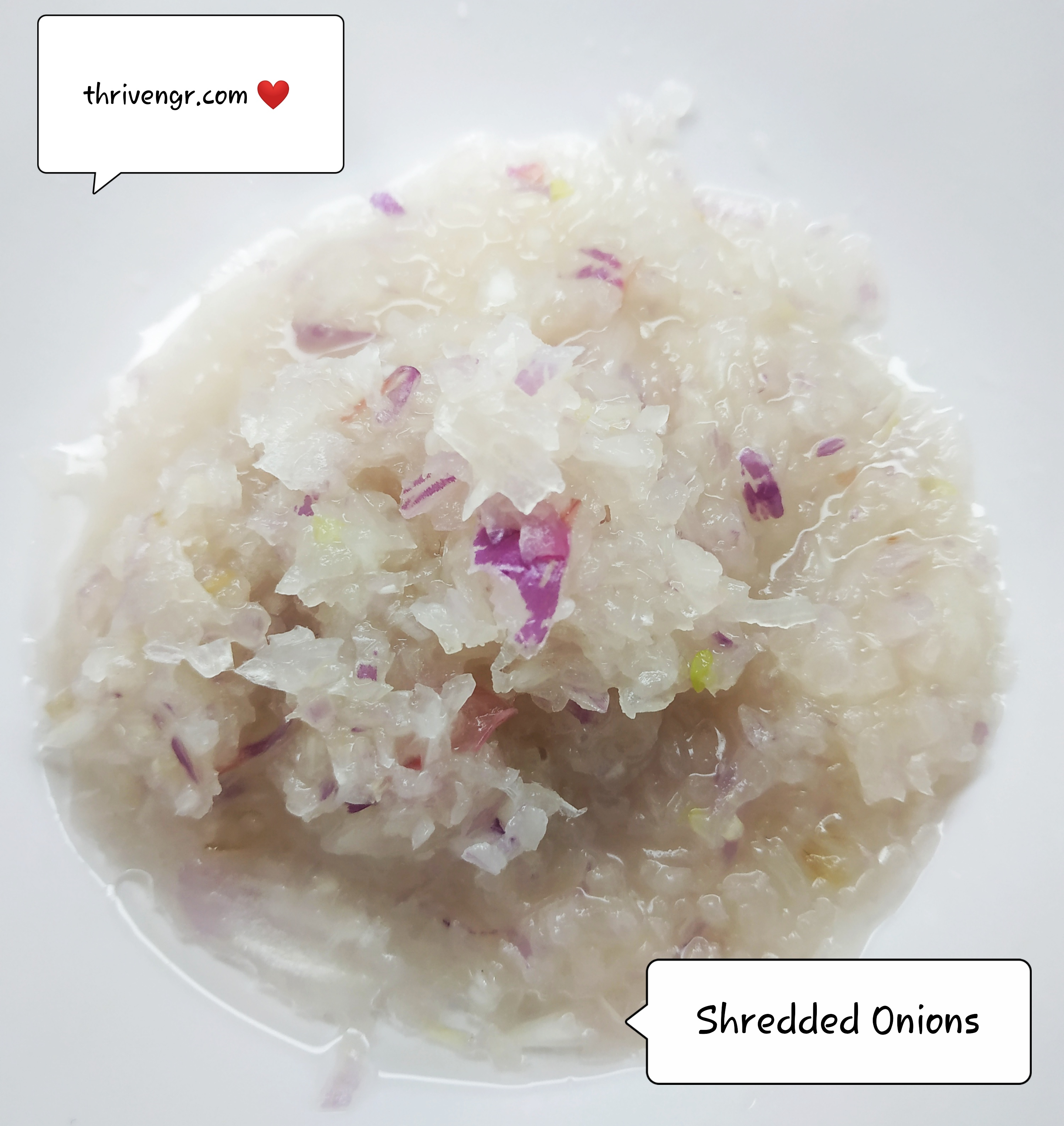 Shredded Onions thrive Nigeria mixture for hair growth