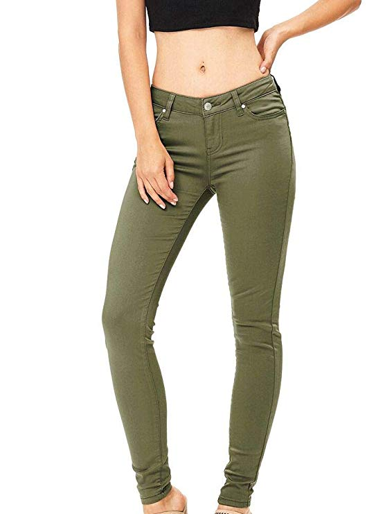 Women's Work Casual Low Waist Skinny Jeans Classic Comfy Stretch Jeggings