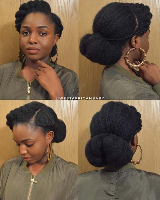 natural low bun