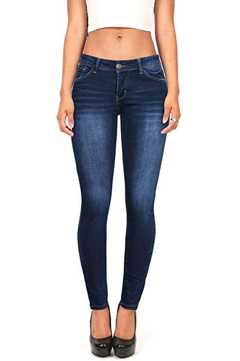 Wax Women's Juniors Timeless Low Rise Stretchy Skinny Jeans
