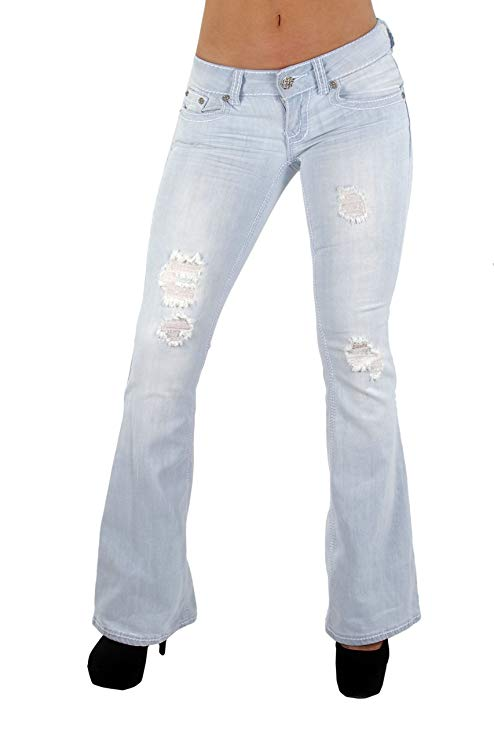 The Sexy Flare Bootleg Ripped Premium Bootcut Women Jeans