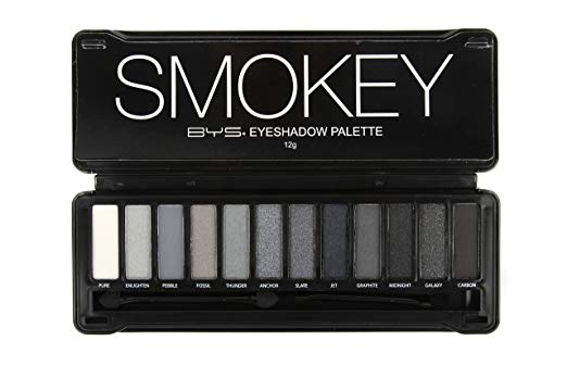 BYS 12 Color Eyeshadow Palette, Nude Smokey