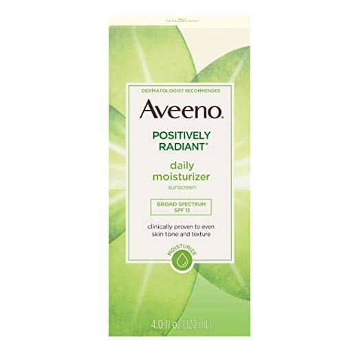 Aveeno Positively Radiant Daily Face Moisturizer with Broad Spectrum SPF 15 Sunscreen