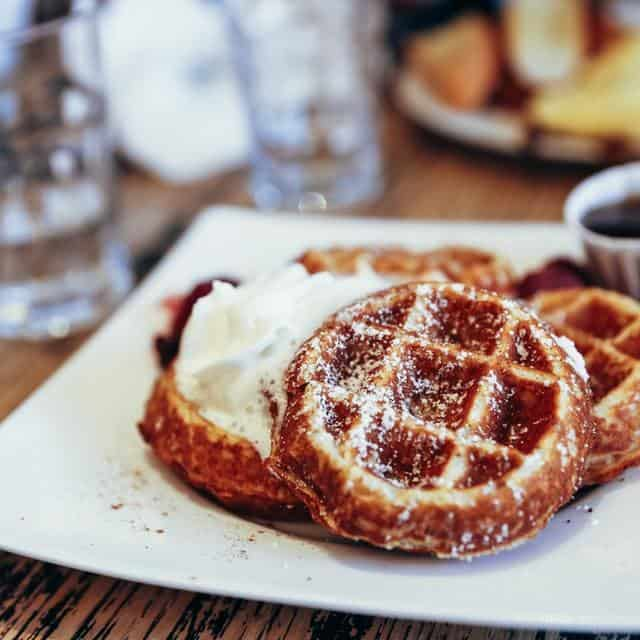 Crispy Yeast Belgian Waffle Recipe