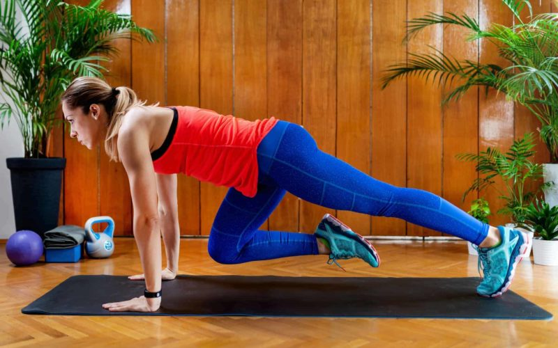 Mountain climbers High-intensity interval training workout