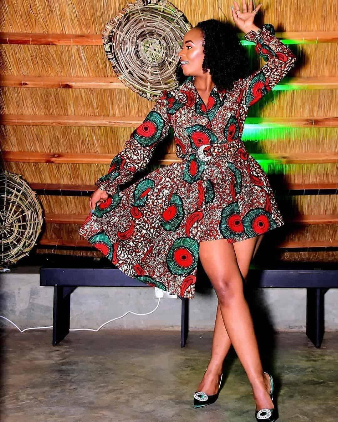 Short Ankara gown styles