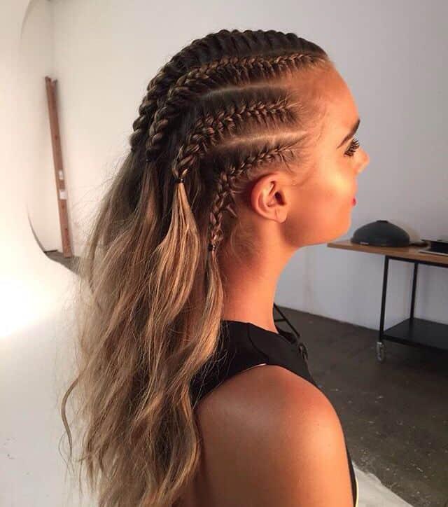 White girls braid