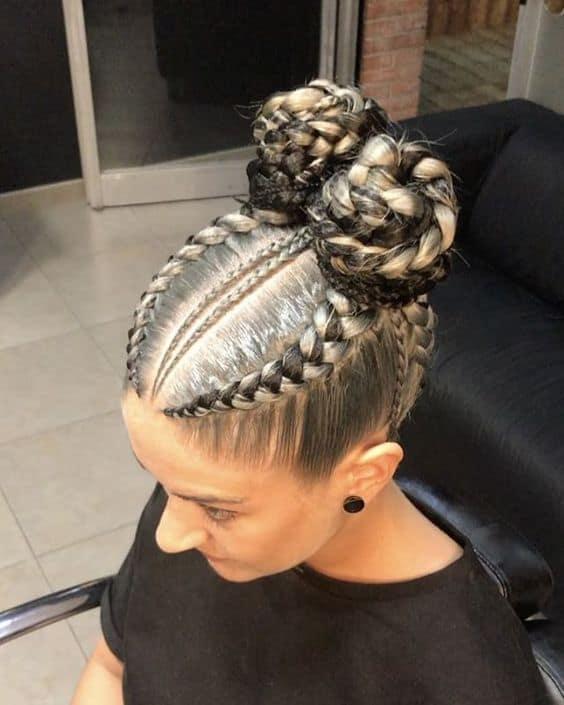 White girl braid
