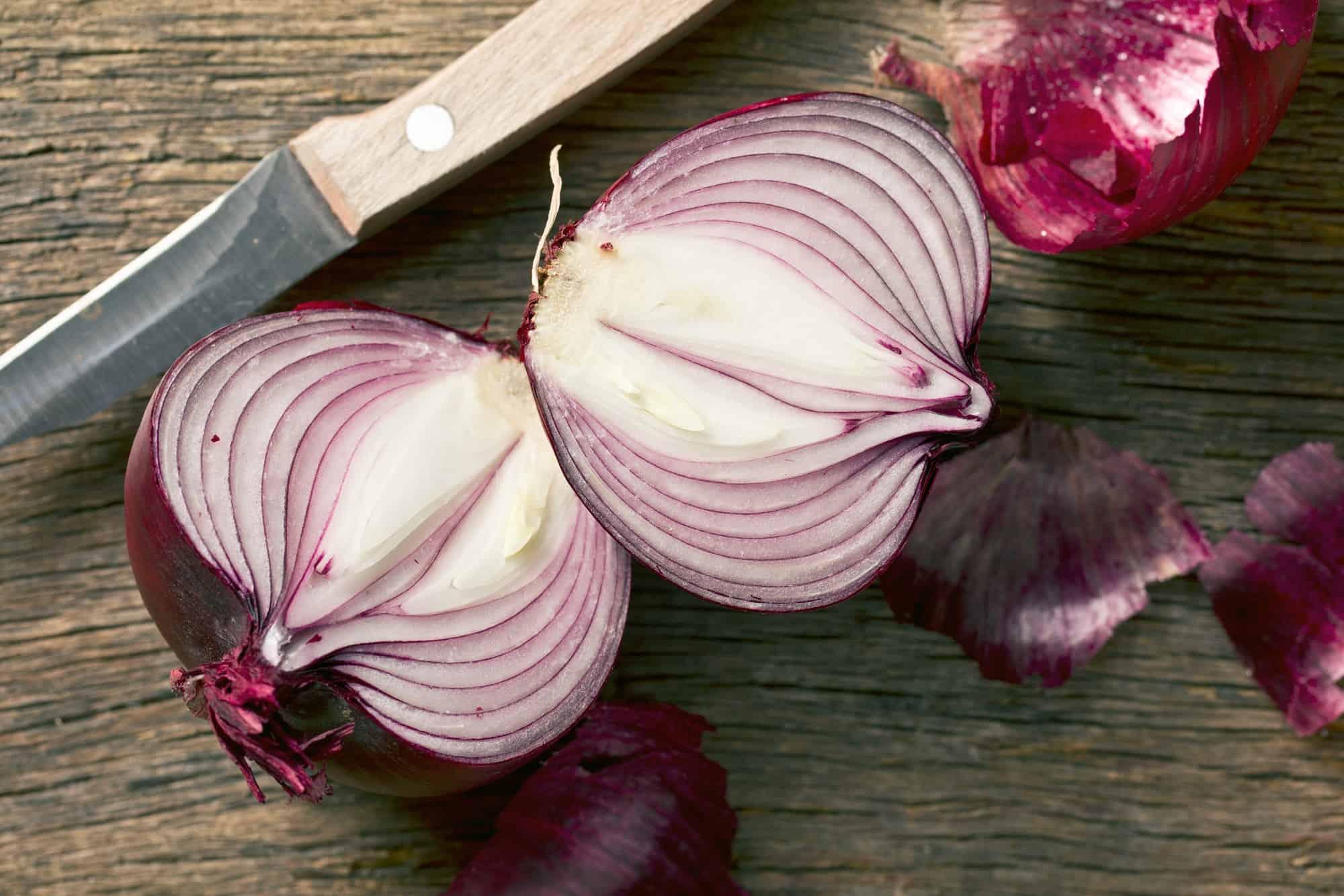 halved onion