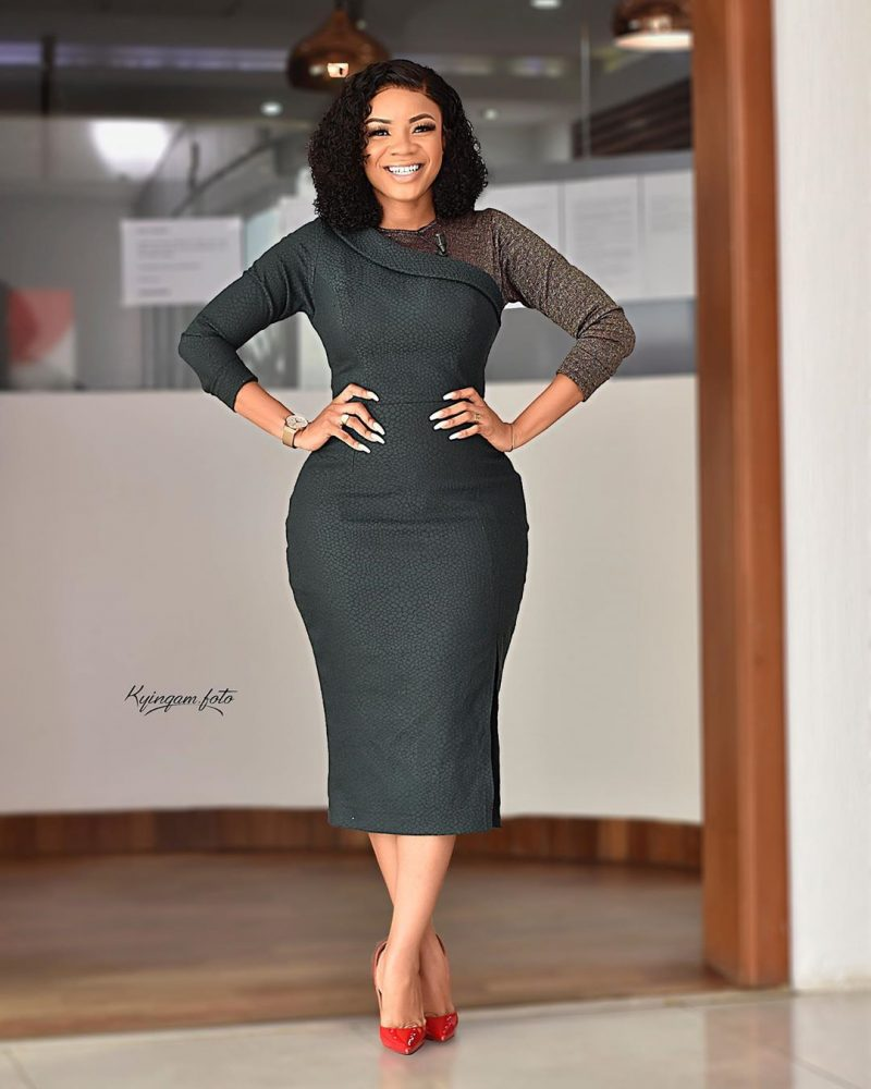Serwaa Amihere style work outfit