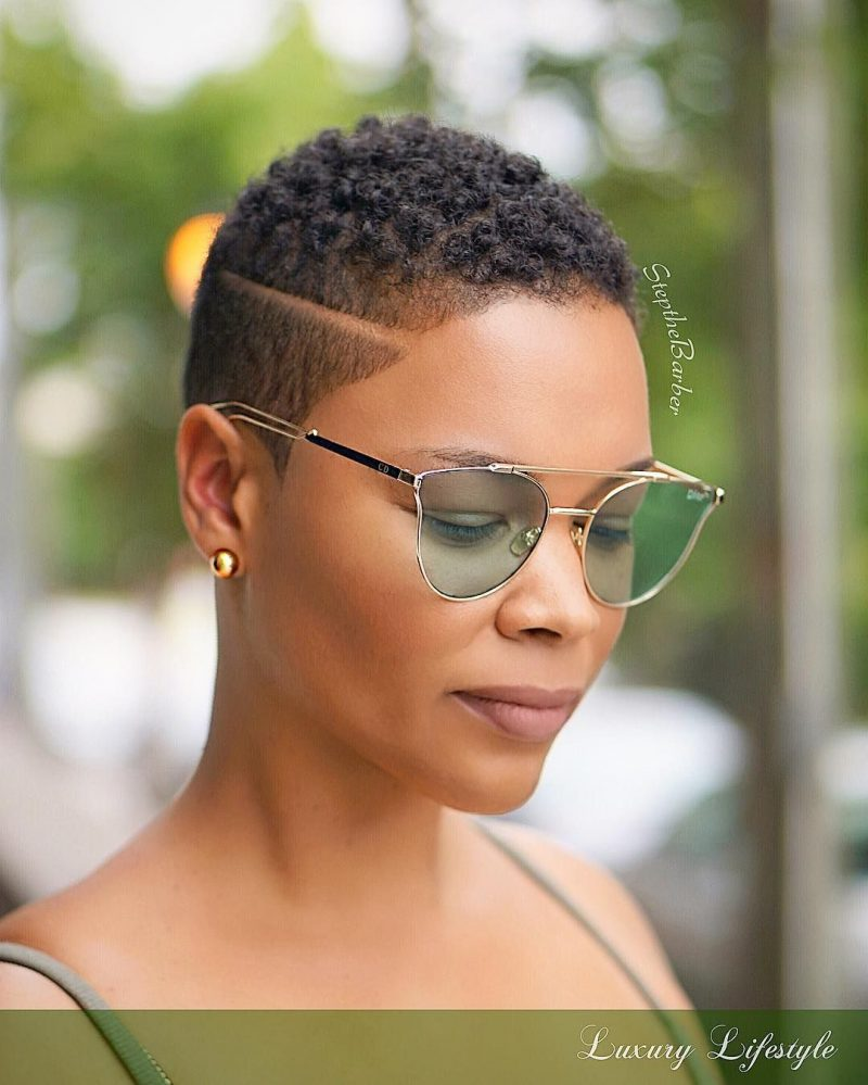 the short hairstyle