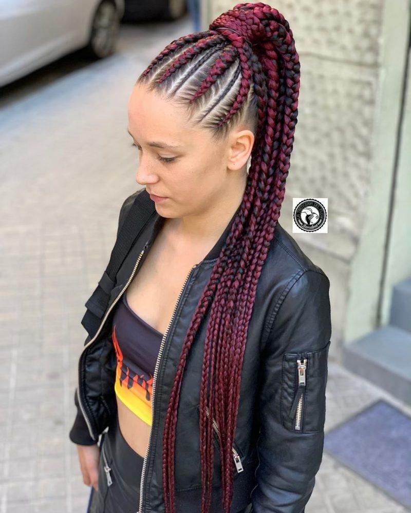 white girls braids