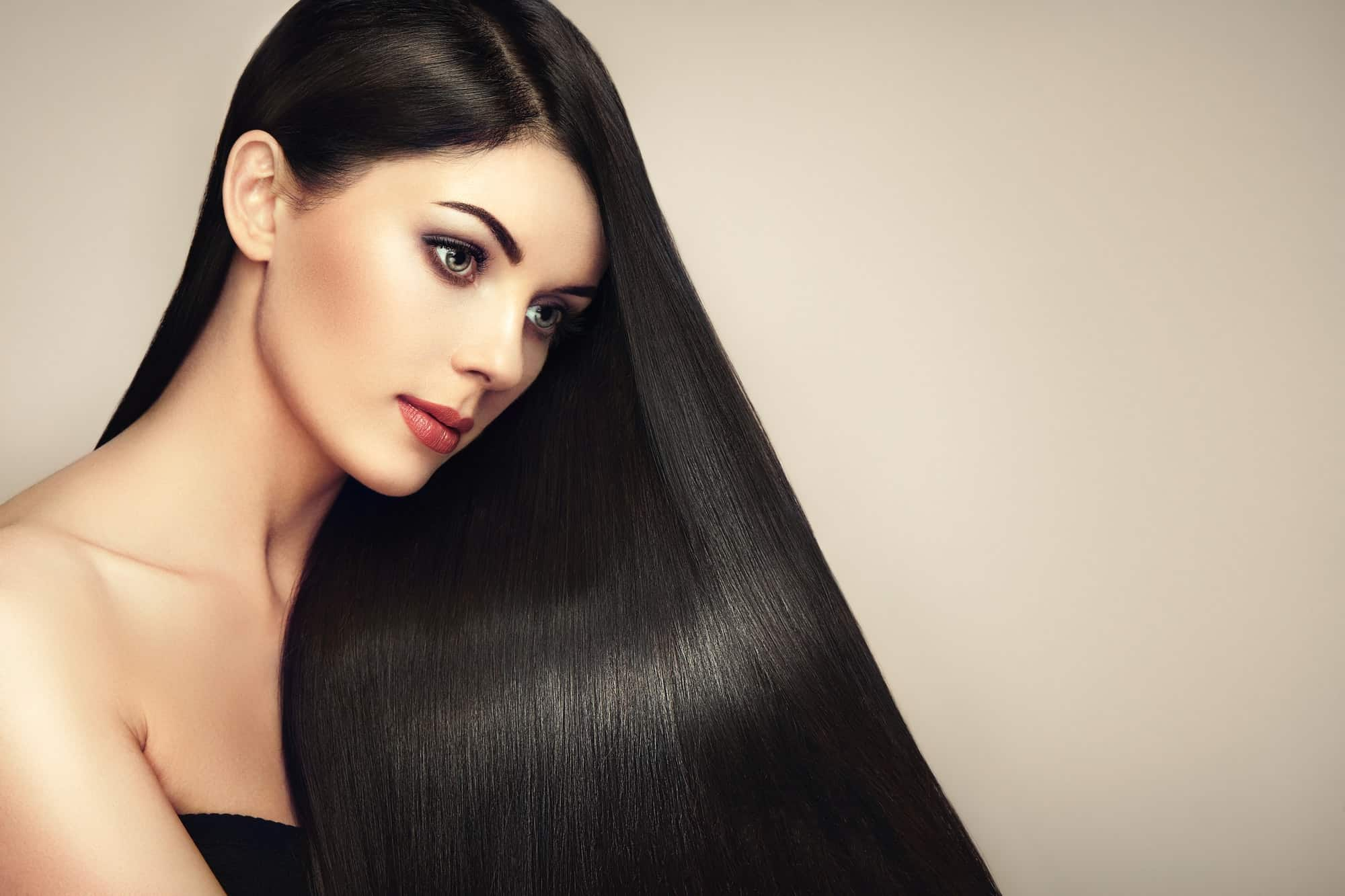 Long silky smooth hair
