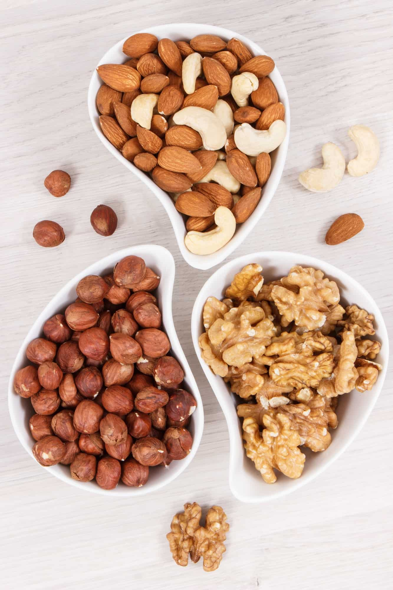 Different nuts and almonds as source vitamins and minerals