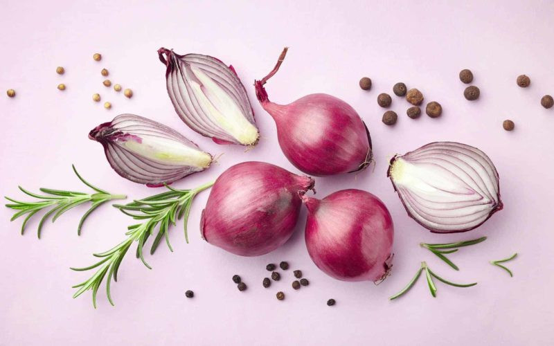 red onions and spices