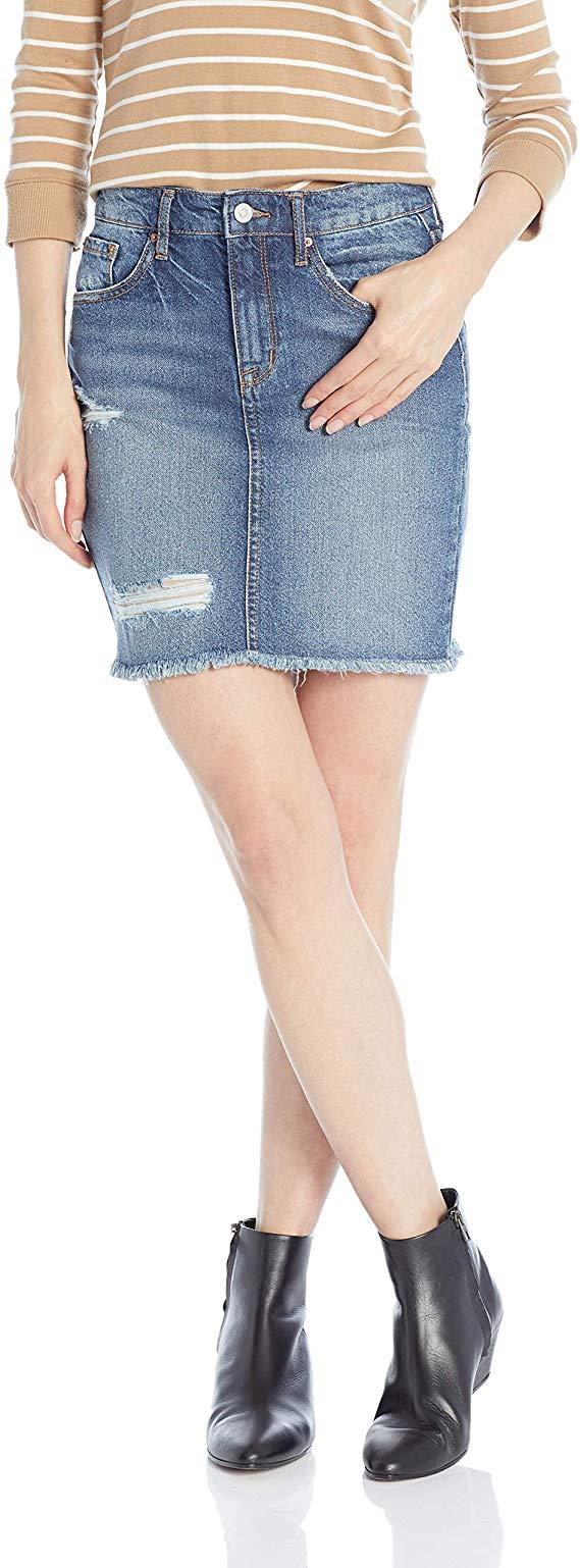 Ella Moss Women's High Waist Denim Mini Skirt