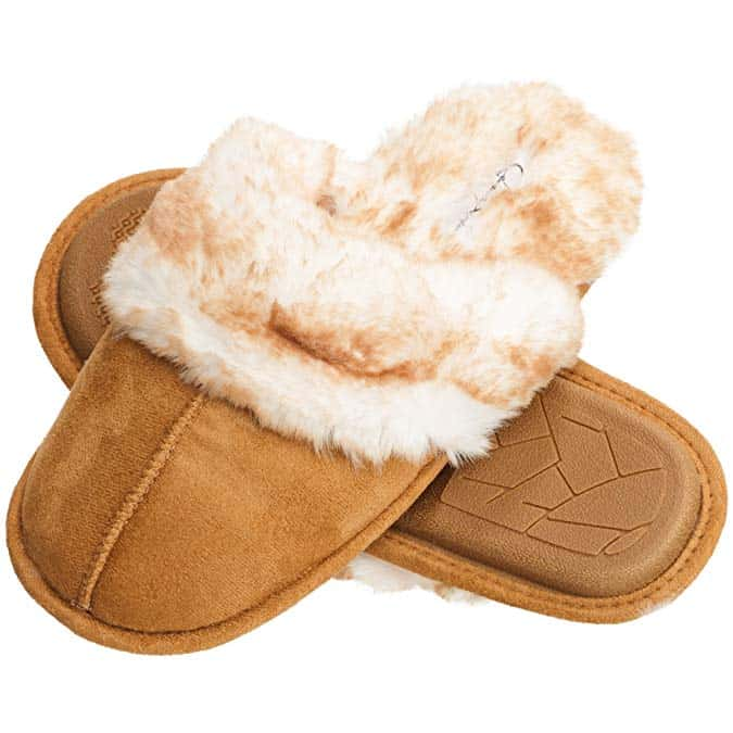 Jessica Simpson Comfy Faux Fur Womens House Slipper