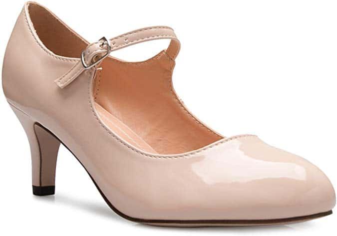 OLIVIA K Womens Classic Low Mid Heels