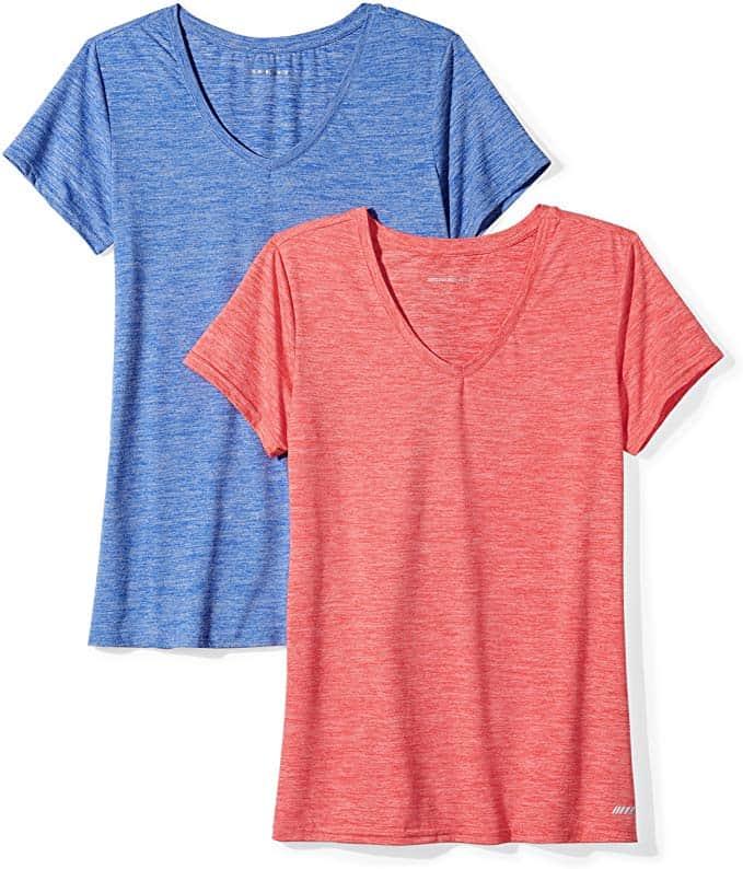 Women's 2-Pack Tech Stretch Short-Sleeve V-Neck T-Shirt