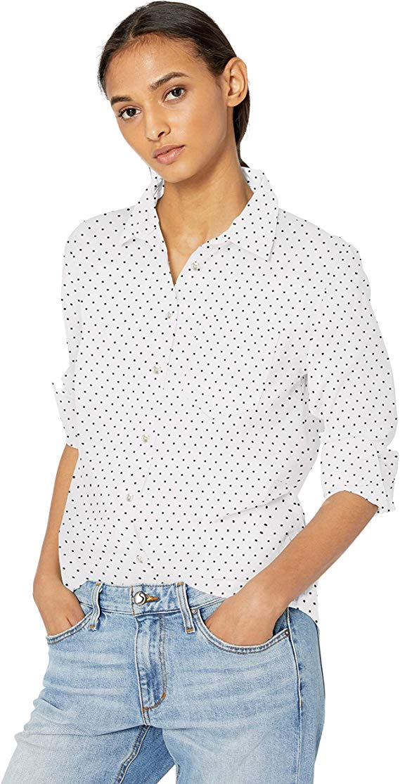 Women's Classic-Fit Long-Sleeve Poplin Shirt