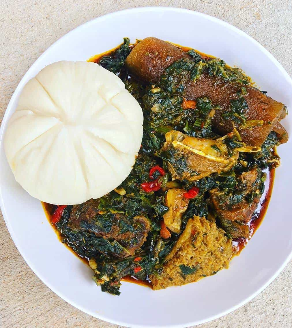 afang and fufu soup