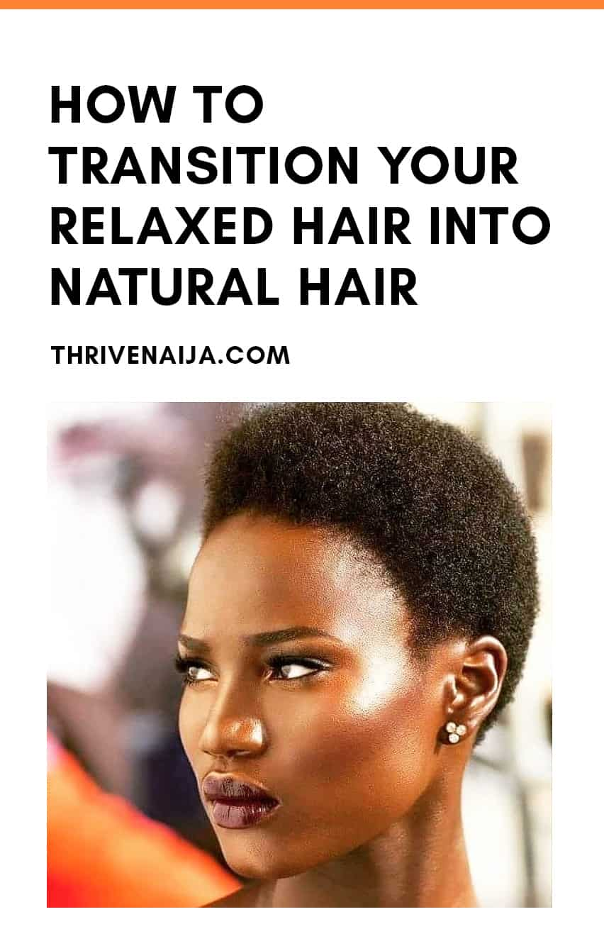 how to transition relaxed hair to natural hair
