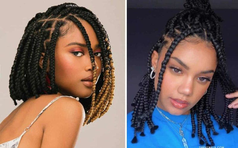 short box braid hairstyle ideas