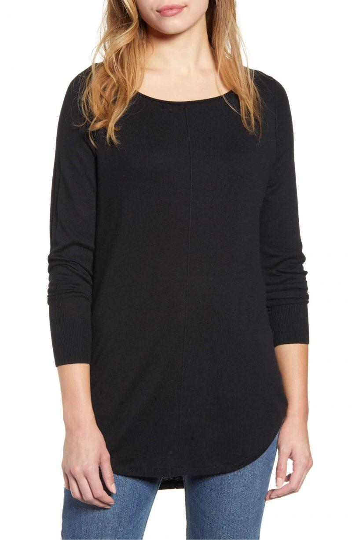 Caslon Shirttail Tunic Sweater