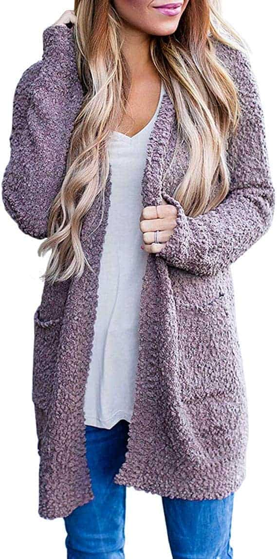 Women's Long Sleeve Soft Chunky Knit Sweater