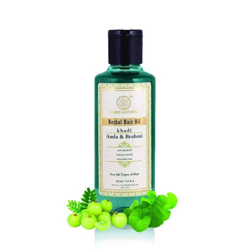 Khadi Herbal Amla and Brahmi Hair Oil