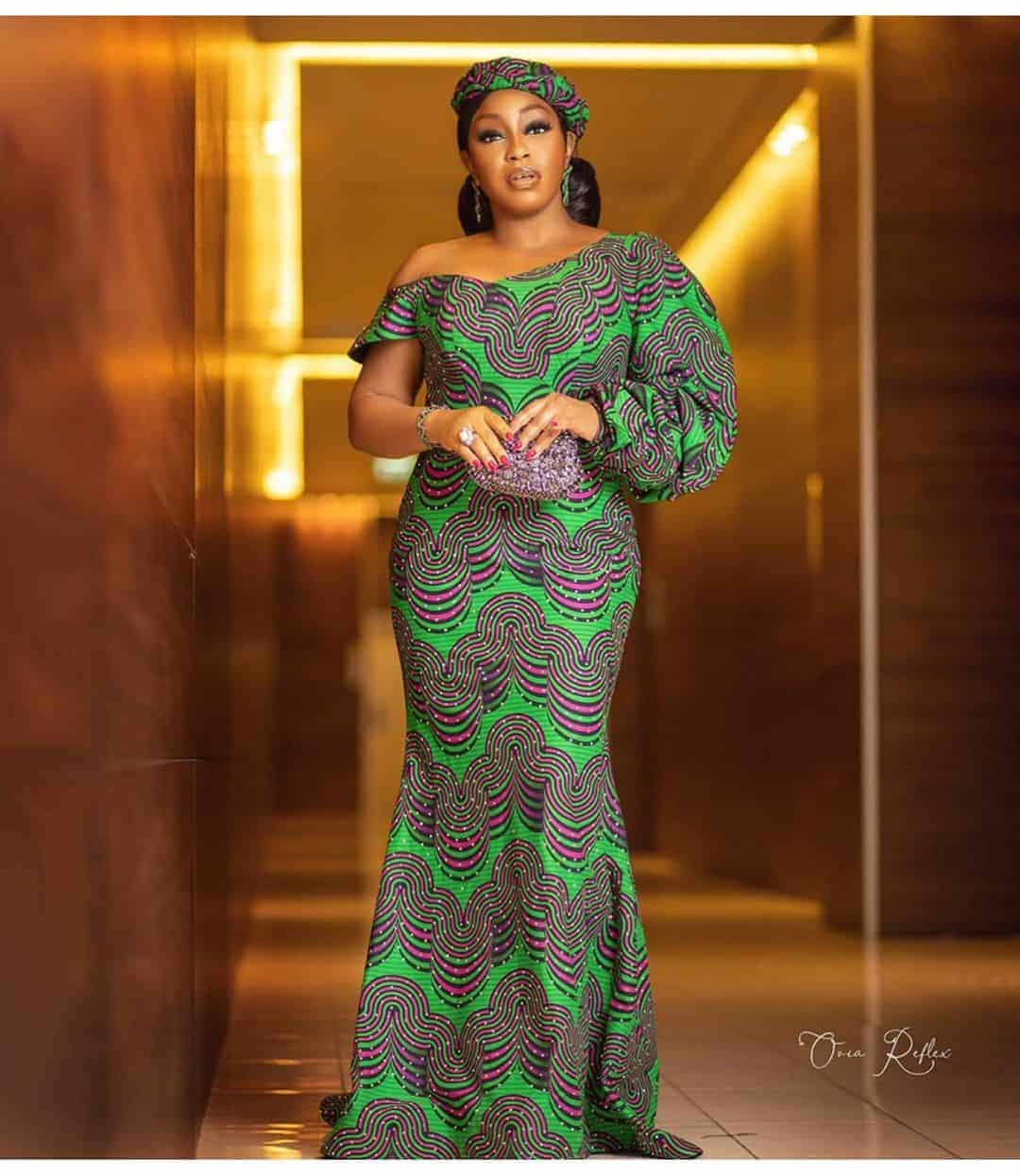 Latest long ankara gown