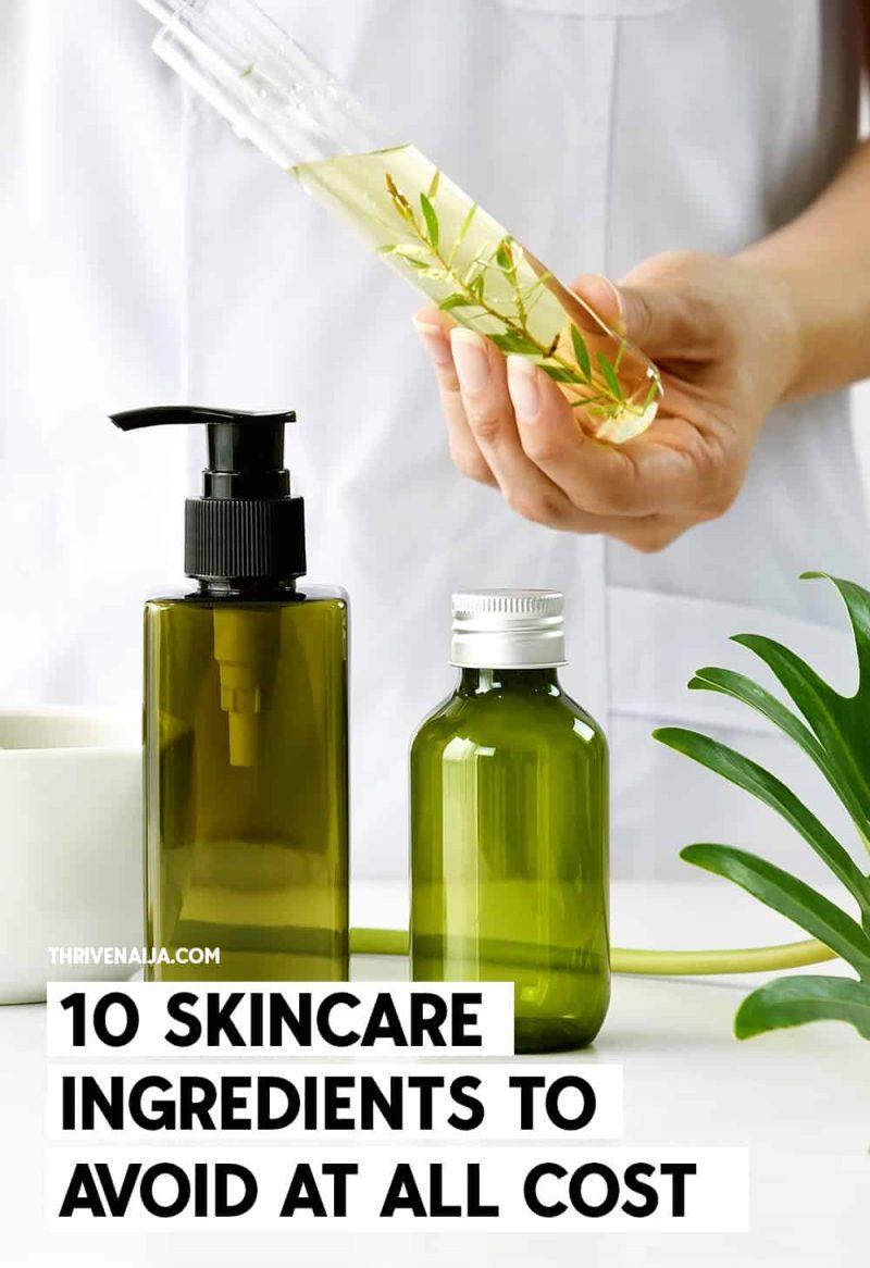 harmful skincare ingredients to avoid