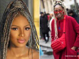 beautiful box braid hairstyle ideas by thrivenaija