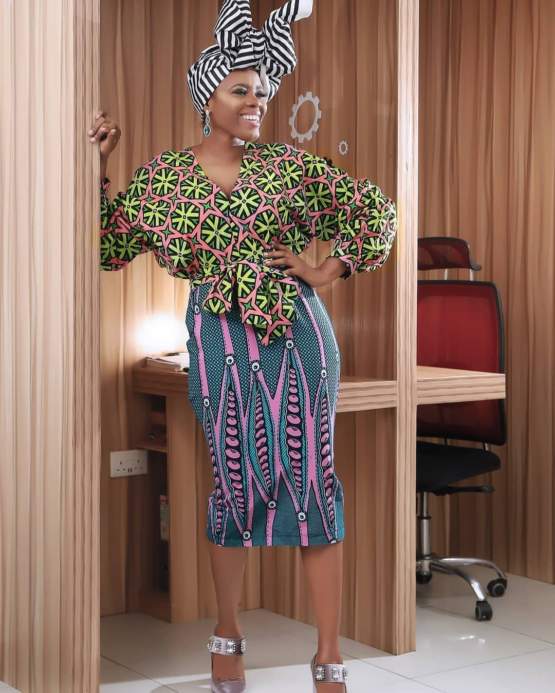 Ankara skirt and blouse for weddings