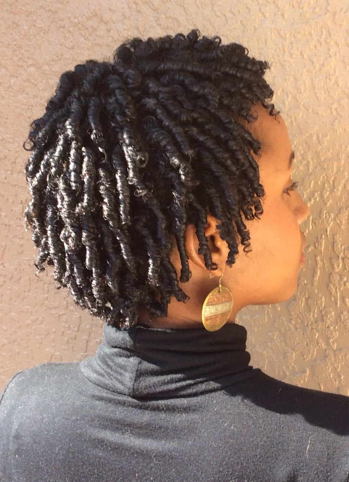 Flat twist hairstyles for natural hair