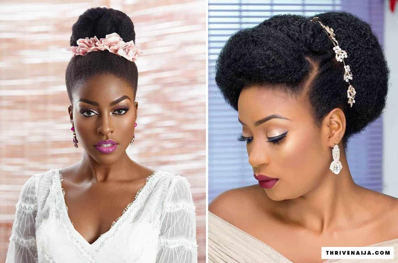 14 Natural Hair Bridal Styles You Can Replicate Thrivenaija