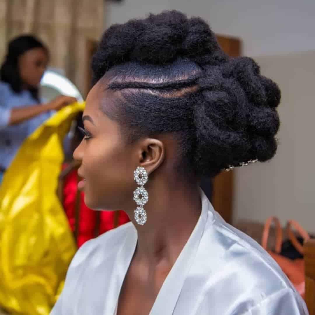 Natural Hair Bridal Styles