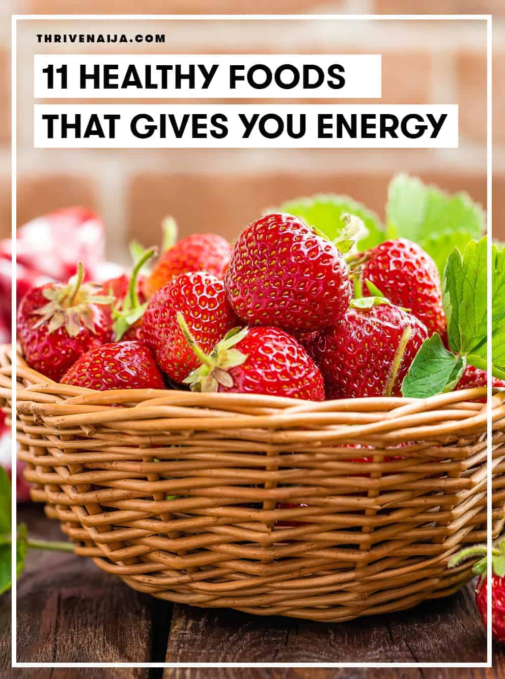 healthy foods that give energy