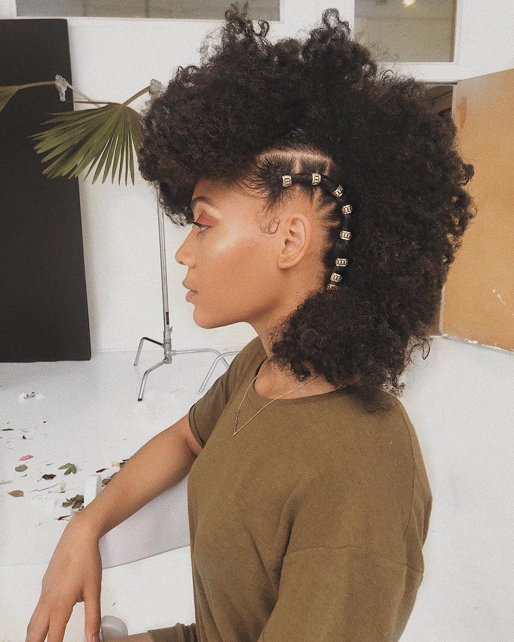 short natural hairstyle