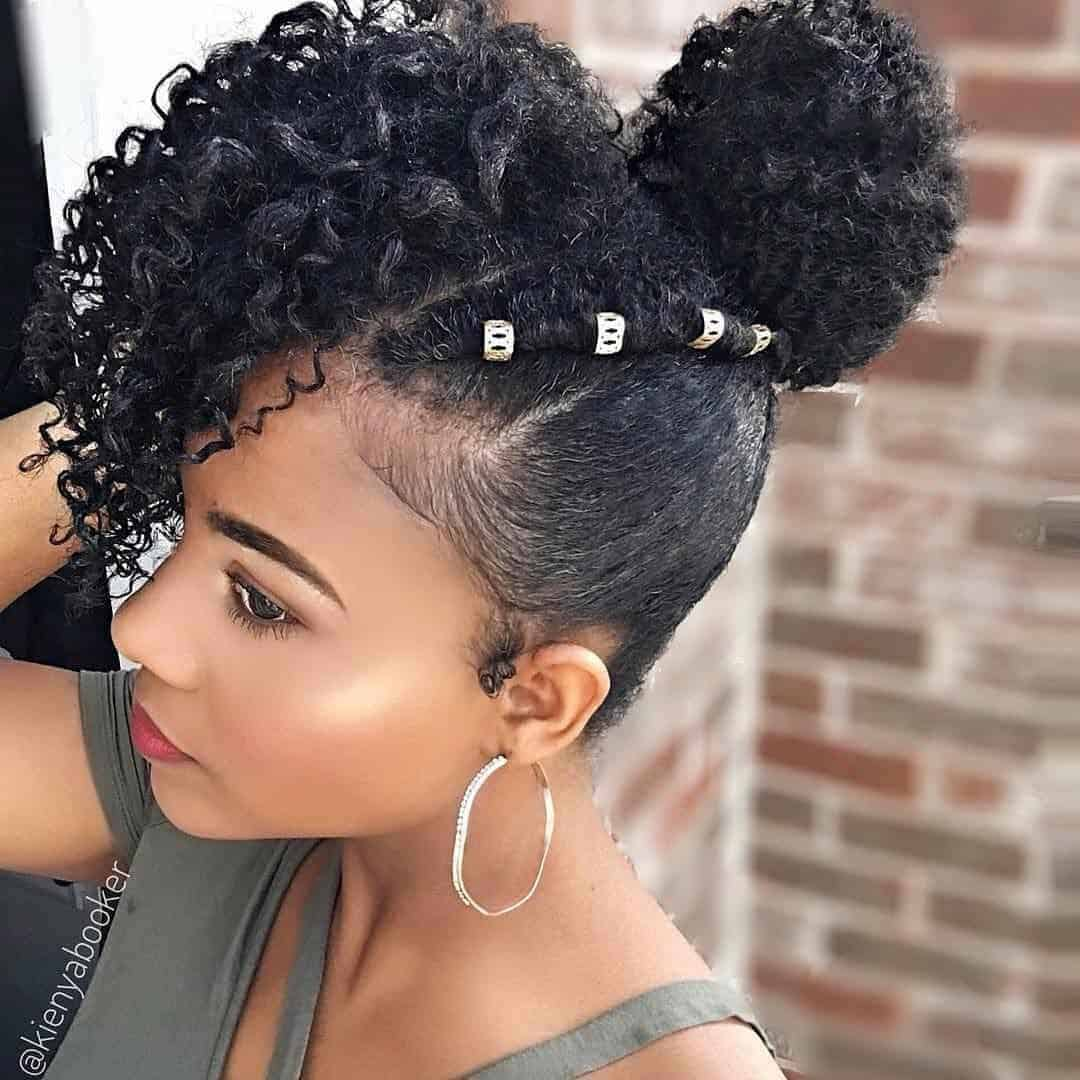 Short natural hairstyle