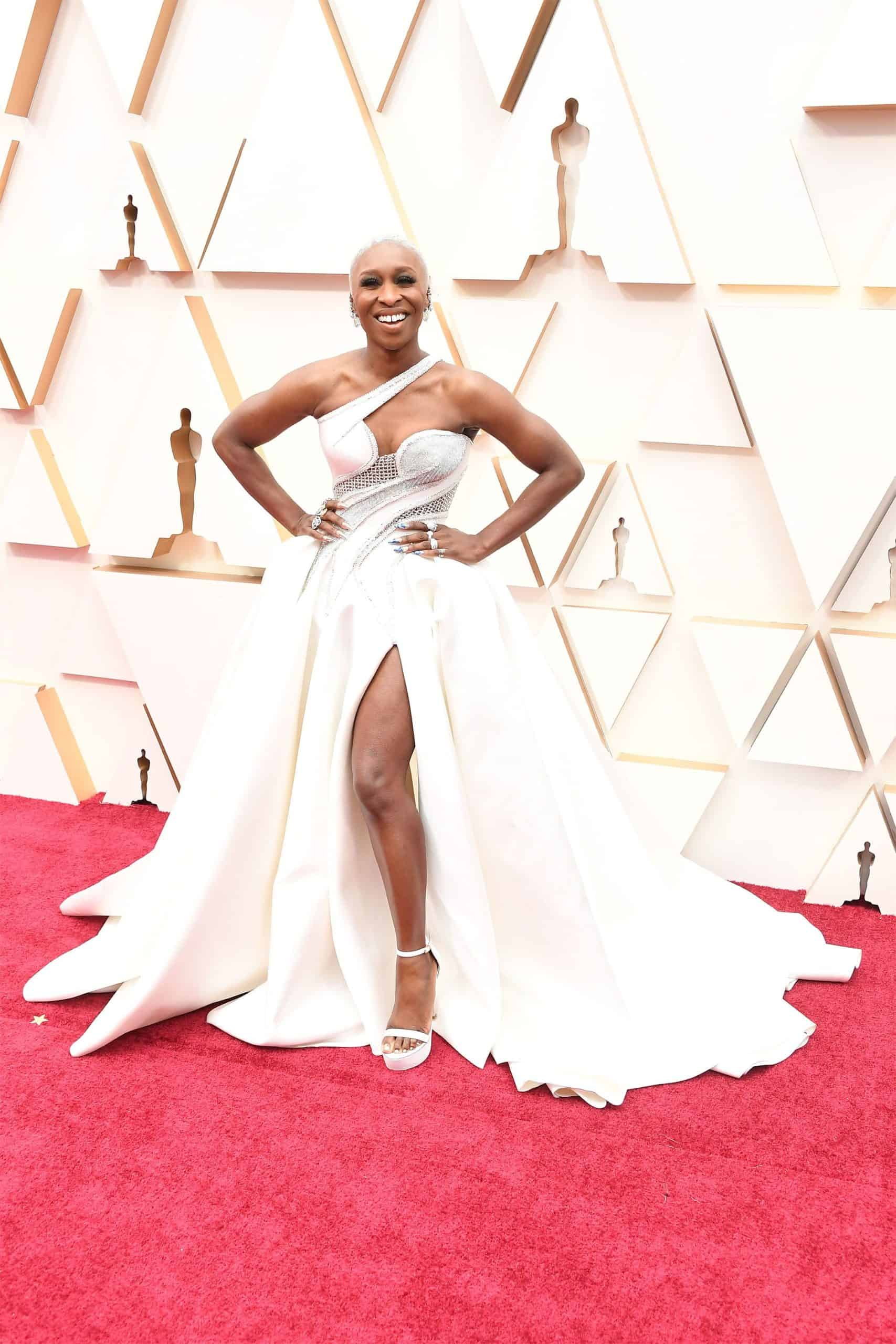 Cynthia Erivo is wearing Atelier Versace