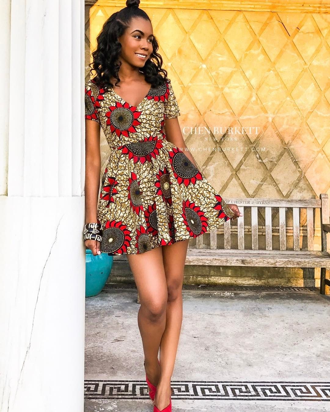 Ankara short gown designs