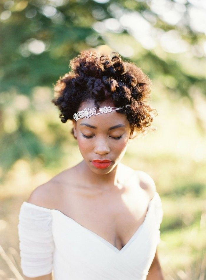 Bridal Afro For A Laid Back Vibe