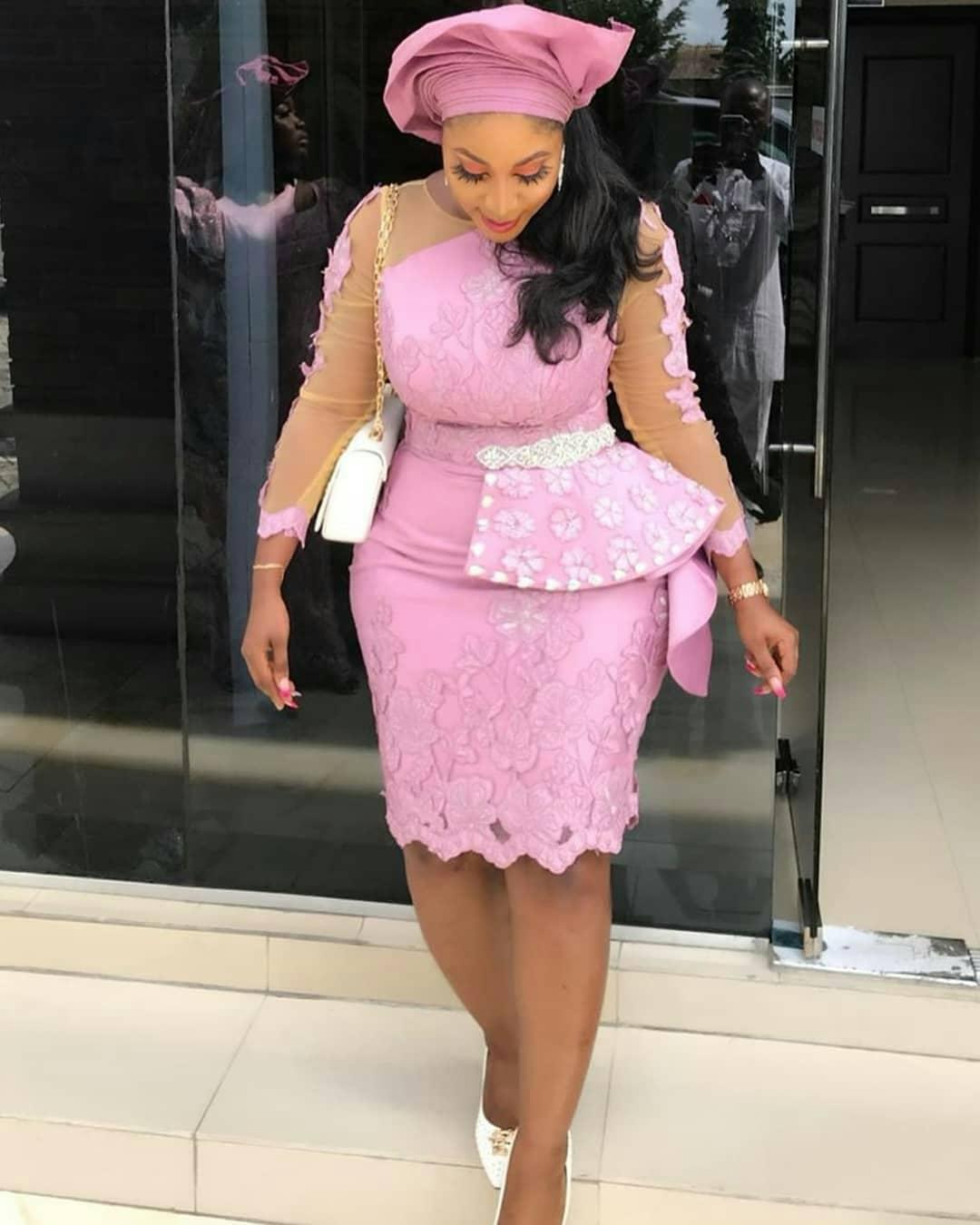 Simple Short Lace Gown
