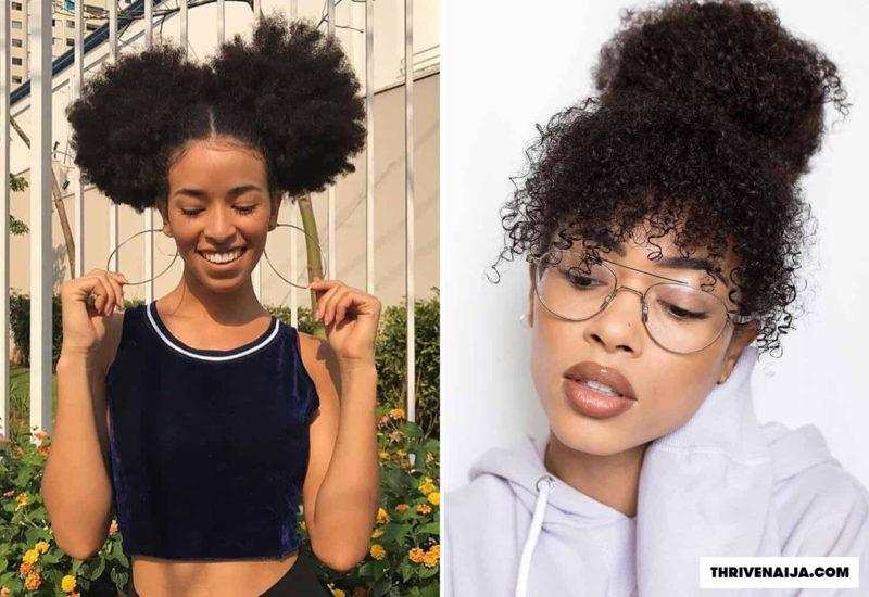 natural hair bun styles - how to do natural hair bun thrivenaija