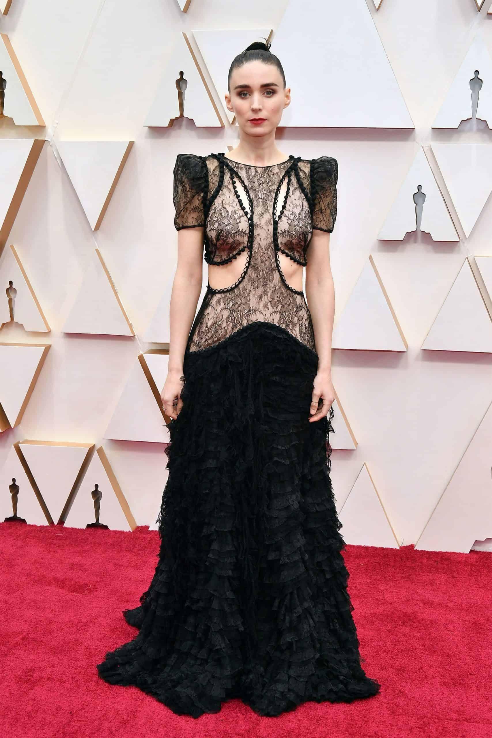 Rooney Mara Wearing Custom Alexander McQueen