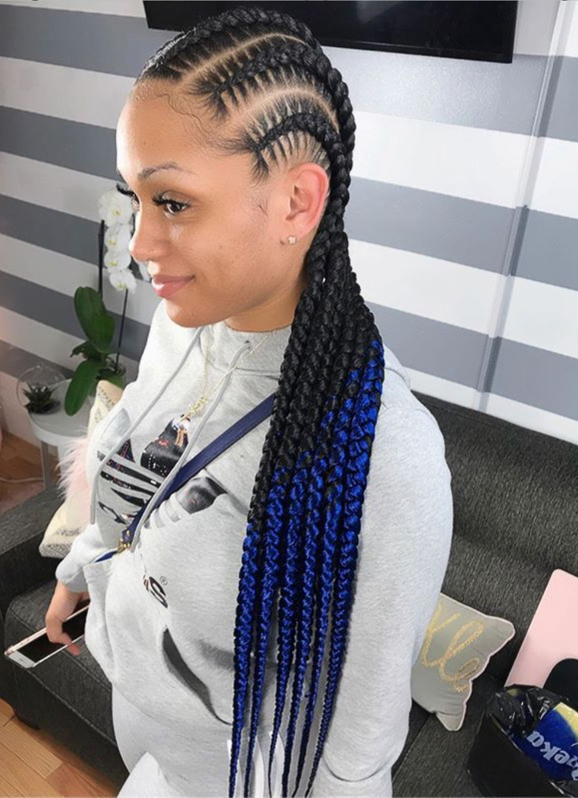 African braid hairstyle